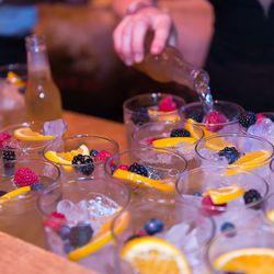 Cocktails in progress.