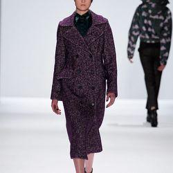<b>Richard Chai Love</b> Long Double Breasted Coat in Purple, $664 at Pas de Deux