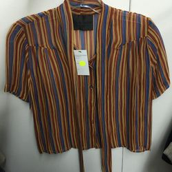 Striped top, $65