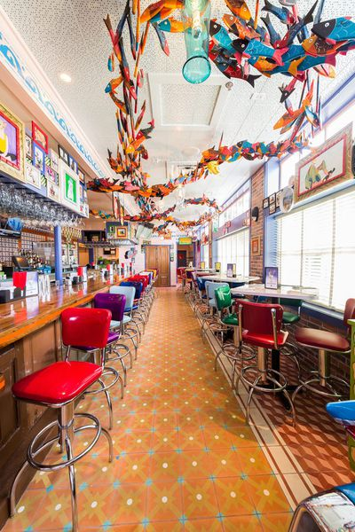 Inside Chuy S Colorful And Kitschy With A Nacho Car