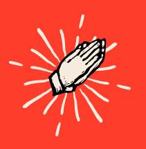 Illustration of praying hands.