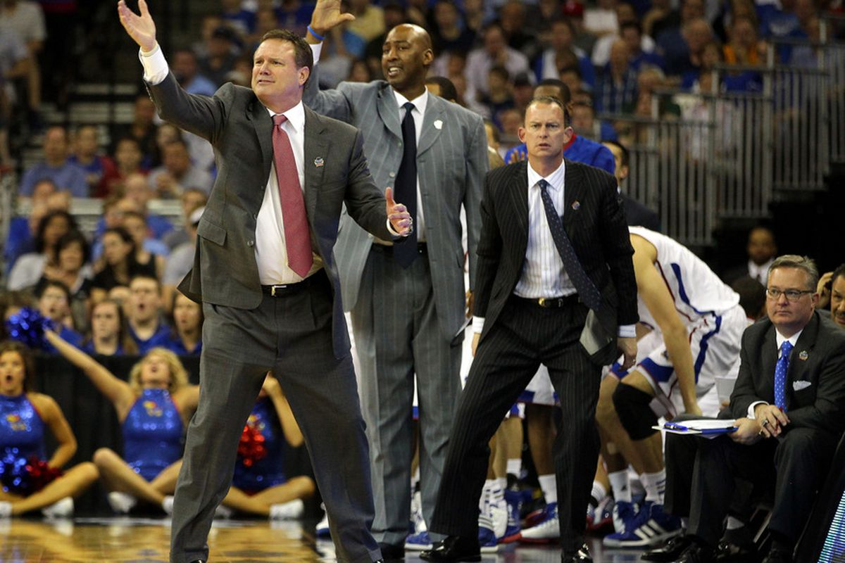 Joe Dooley (right most coach standing) has recently emerged as a candidate at MSU  (Photo by Doug Pensinger/Getty Images)