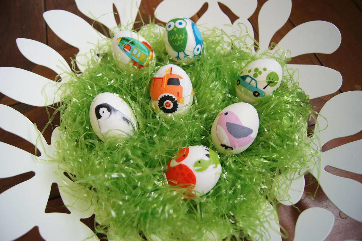 This undated photo provided by Jessa Decker-Smith, decoupaged eggs used as a pinned image on Pinterest, the virtual pin board for sharing images and ideas, is shown.