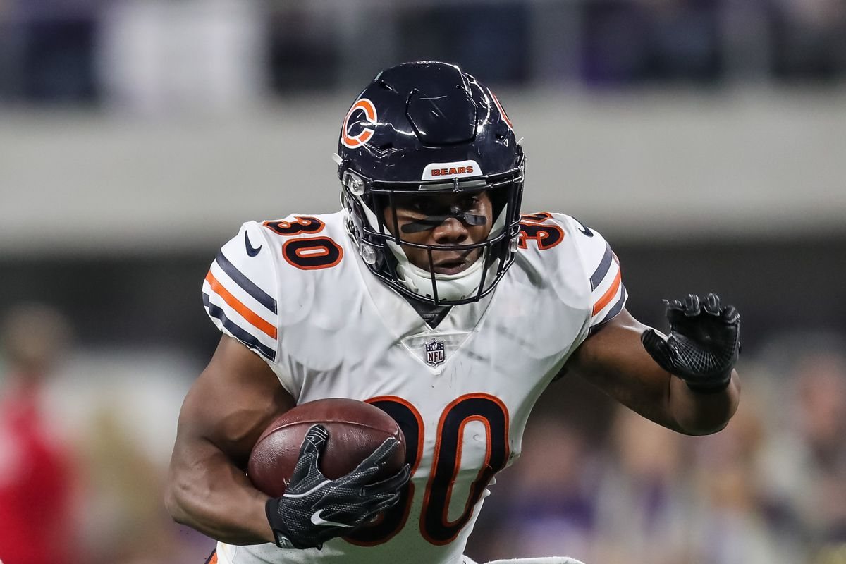 Chicago Bears RB Benny Cunningham carries the ball against the Minnesota Vikings, Dec. 30, 2018.