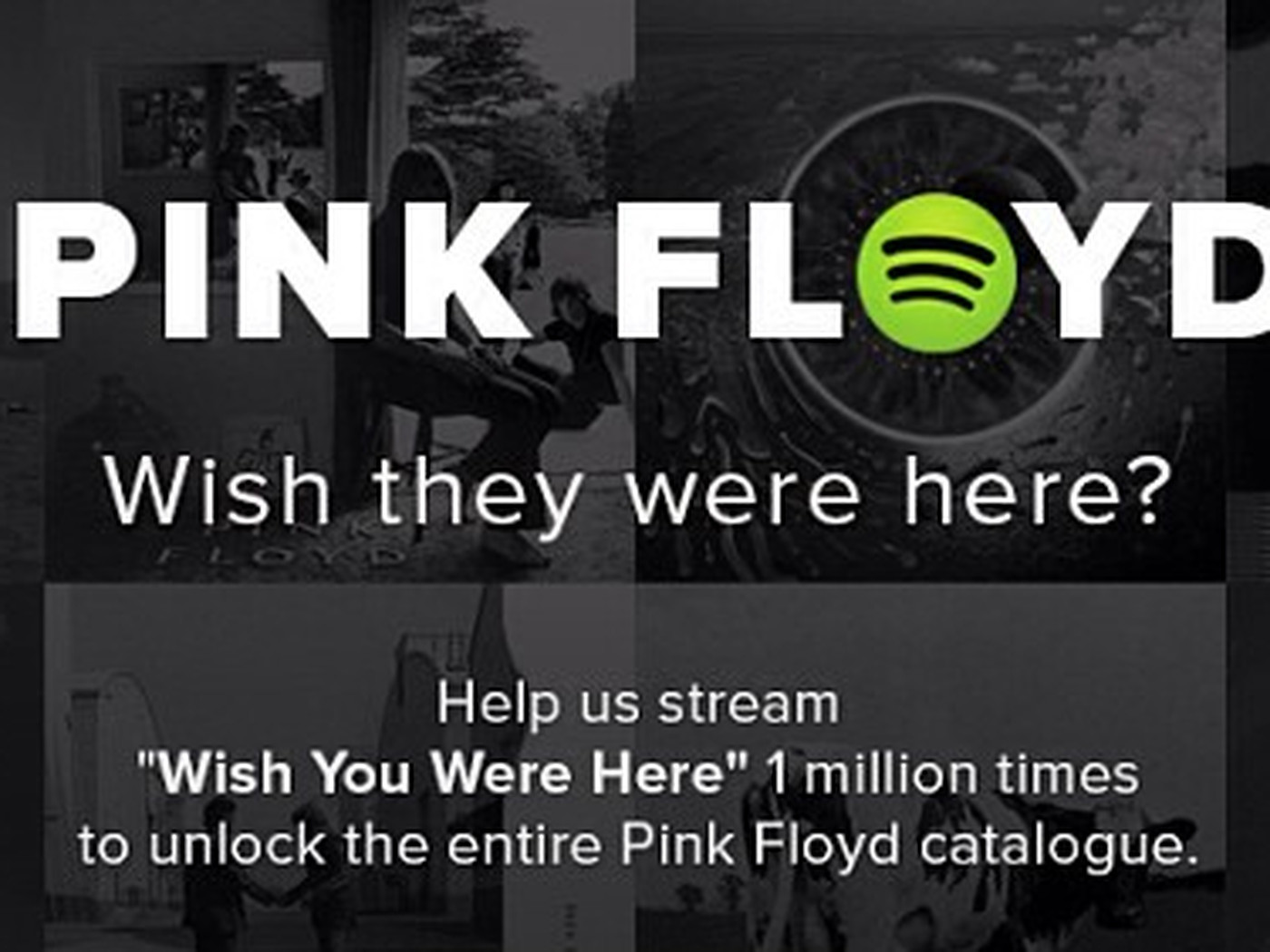 Spotify To Unlock Pink Floyds Entire Catalog Once Wish You Were Here Hits 1 Million Plays
