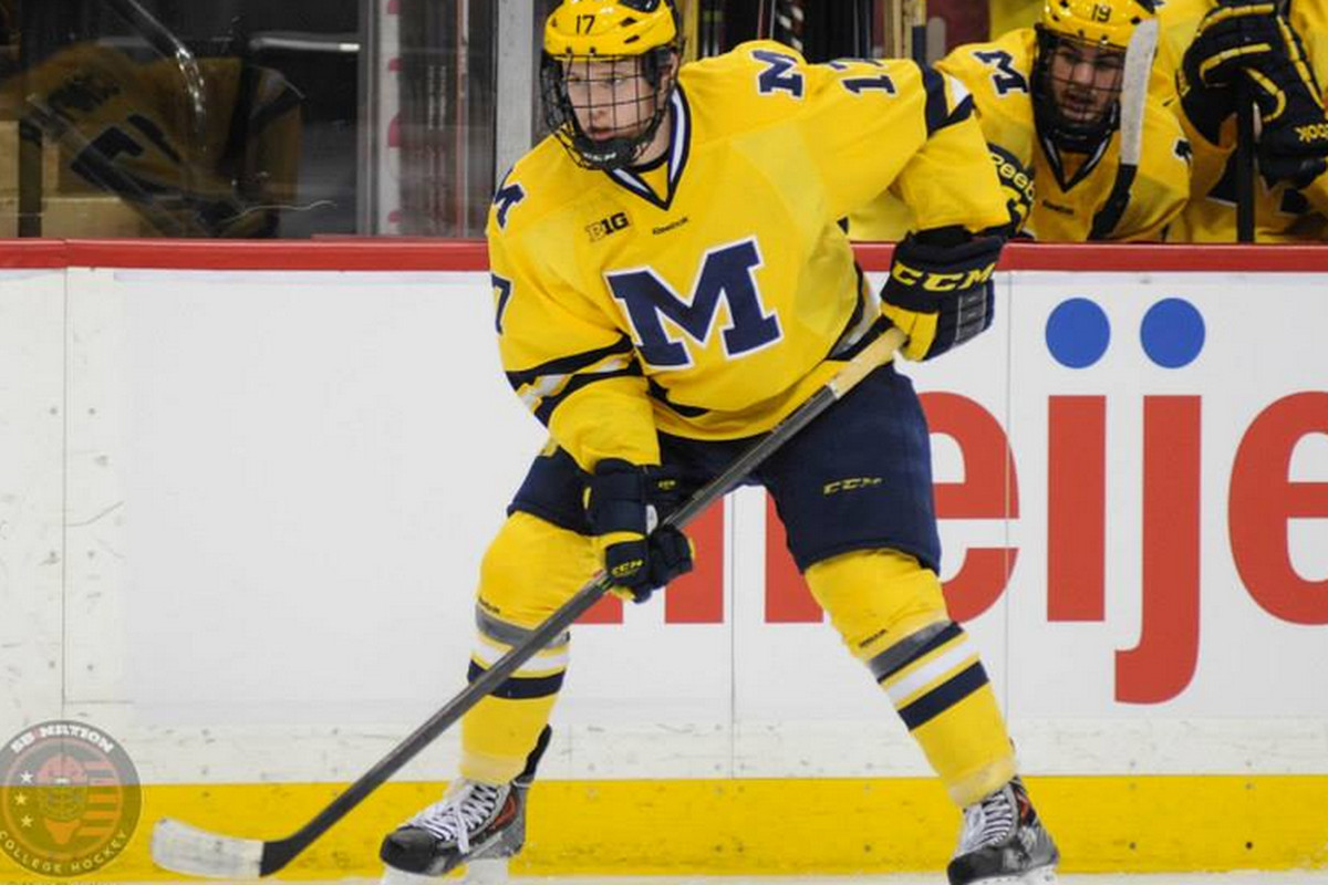Michigan's J.T. Compher is one of 10 Big Ten players named to WJC rosters