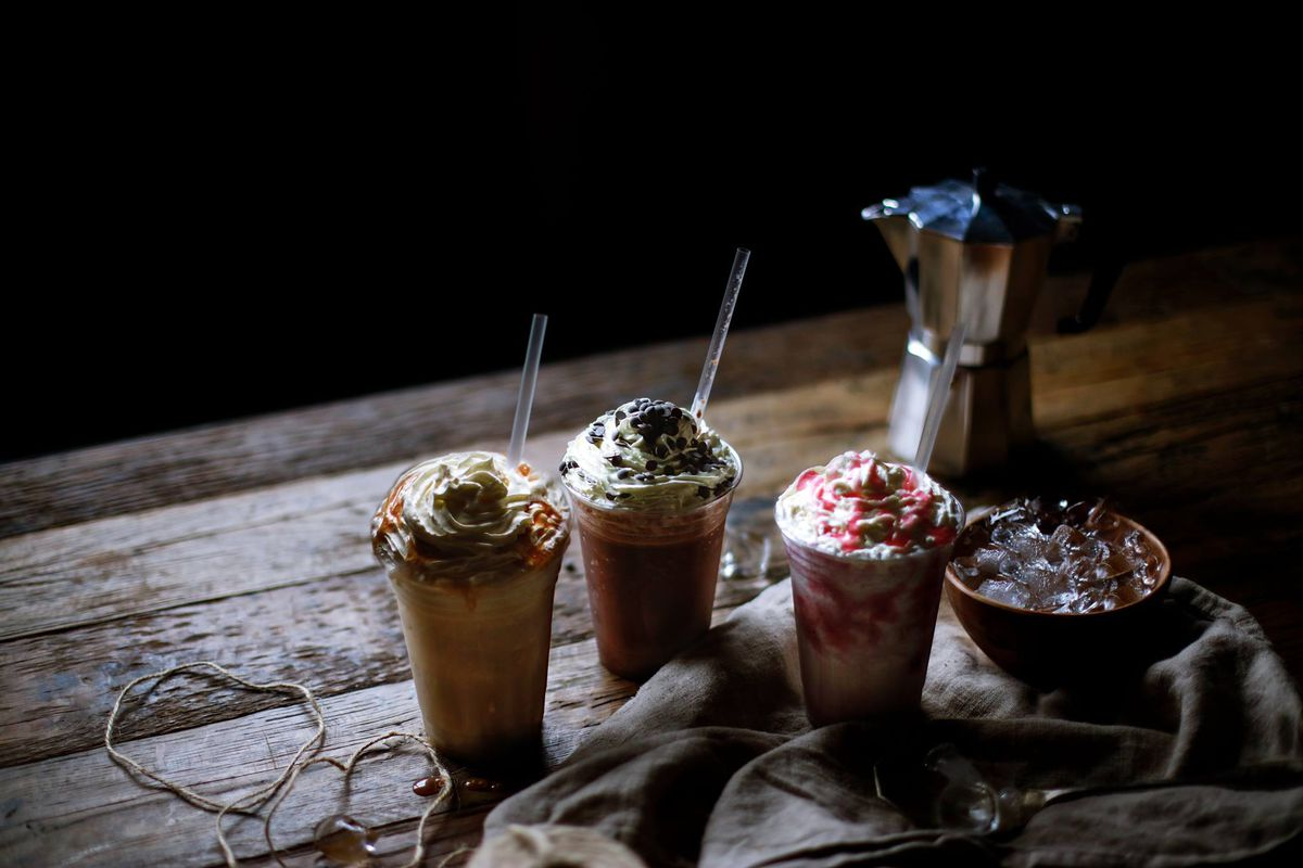 Frappe cremes at Caffe Nero