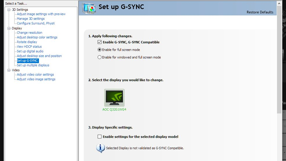 How to enable Nvidia G-Sync on your unsupported FreeSync monitor