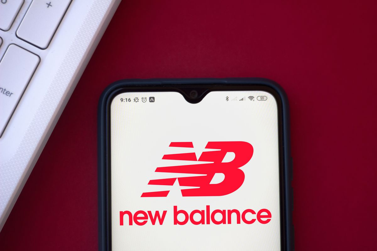 In this photo illustration the New Balance Athletic Shoe...
