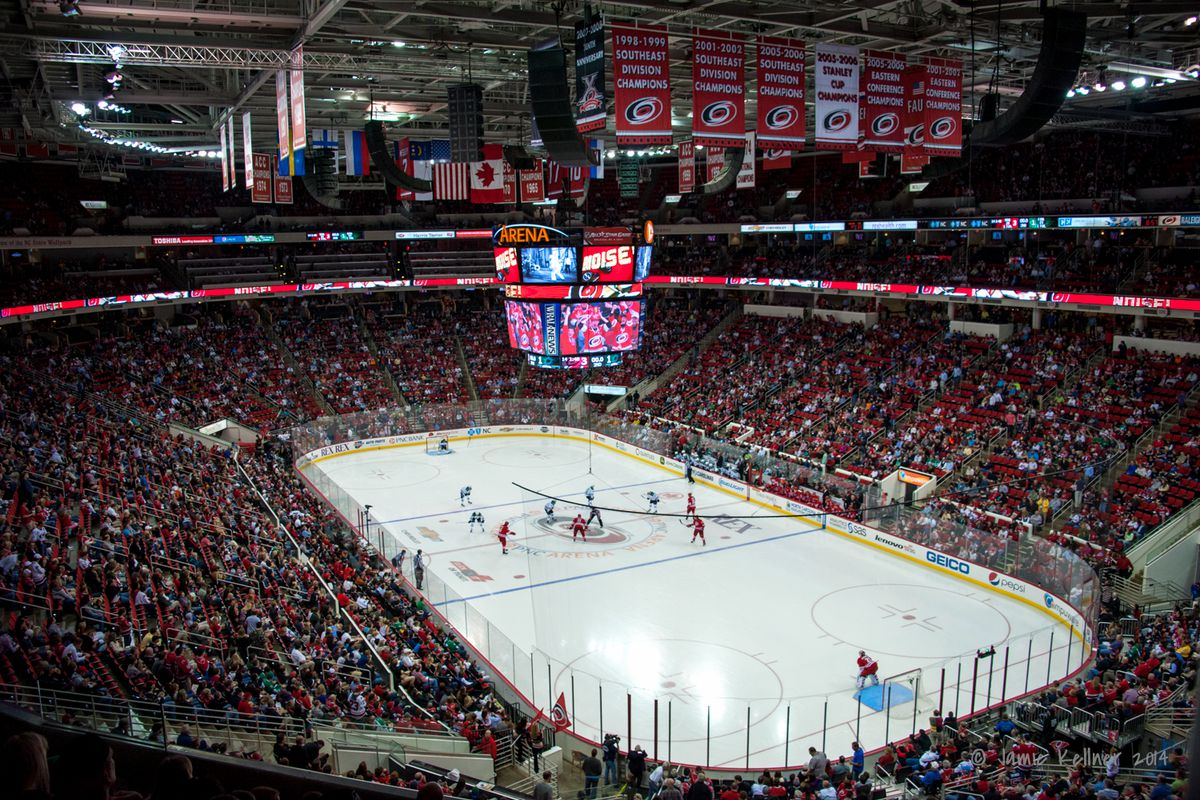 PNC Arena inside stock photo