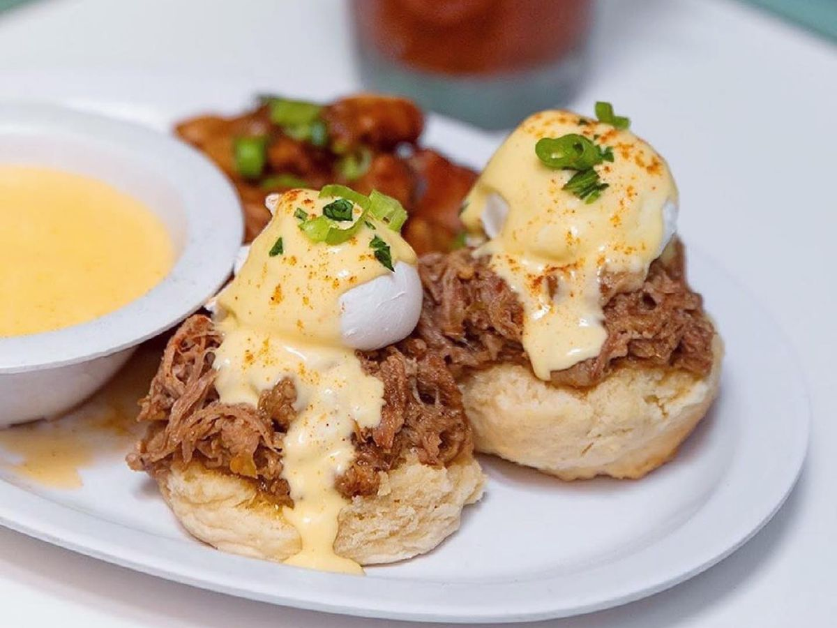 Eggs Benedict at Sawyer & Co.
