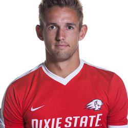 DSU men's soccer junior defender Bryan Baugh poses for his headshot.
