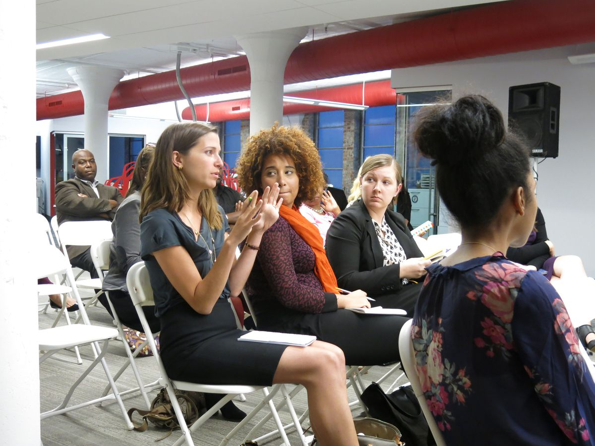 During the Q & A portion of the forum, one attendee asked how schools share successful practices.