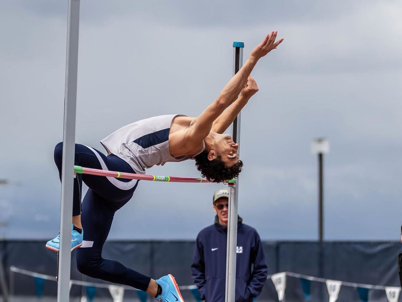 Utah State track athlete Roman Ruiz