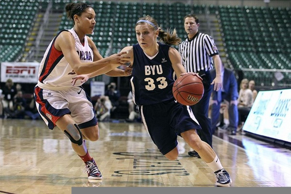 BYU Cougars senior Haley Steed was among the most efficient point guards in the nation this season and might figure prominently in BYU's bid to overcome the odds and make a tournament run. <em>Kelley L Cox-US PRESSWIRE</em>