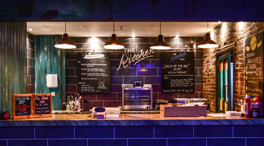 The kitchen at Genesis Cinema in Whitechapel, one of the best places for cinema food in London