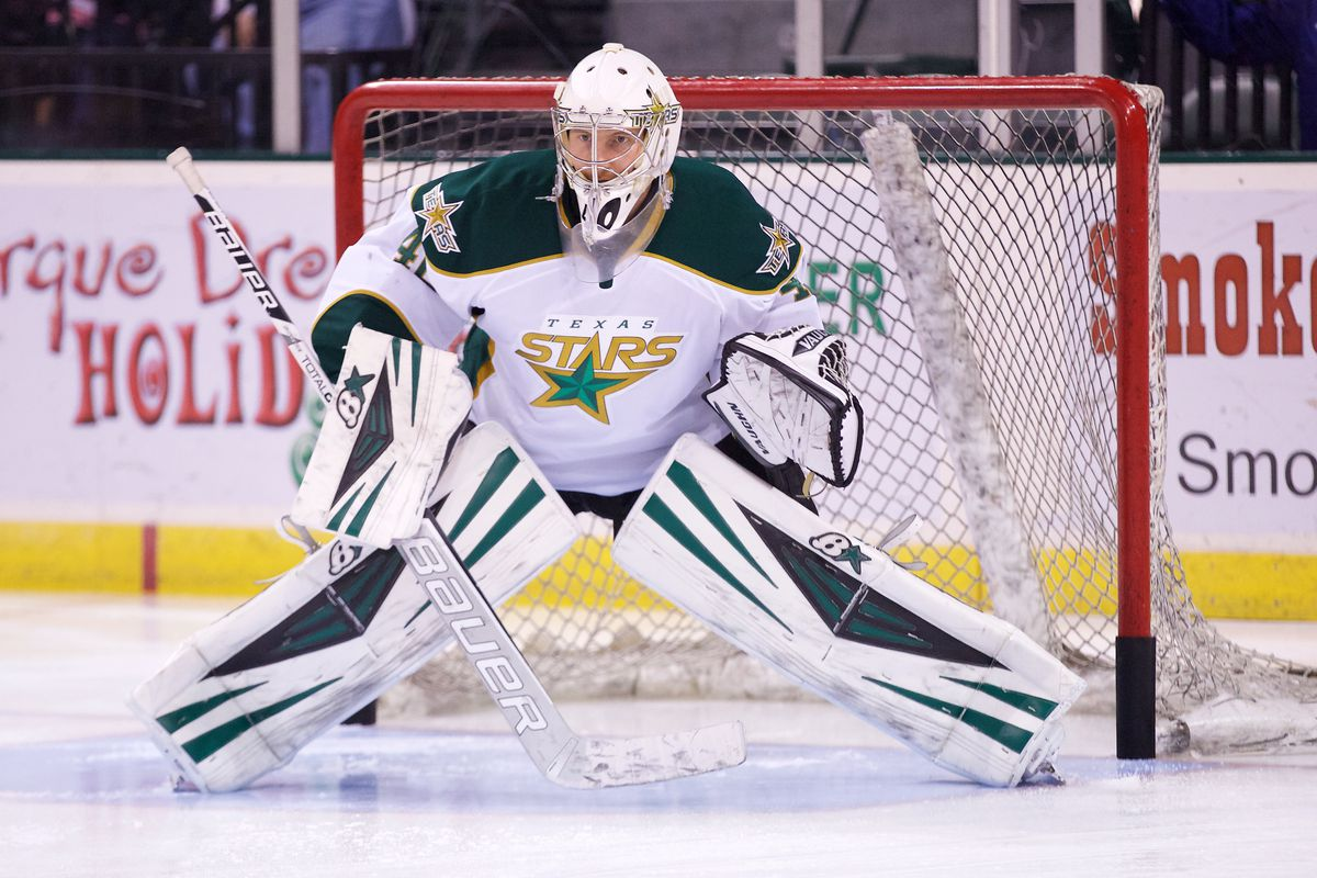 Jussi Rynnas in net for the Texas Stars