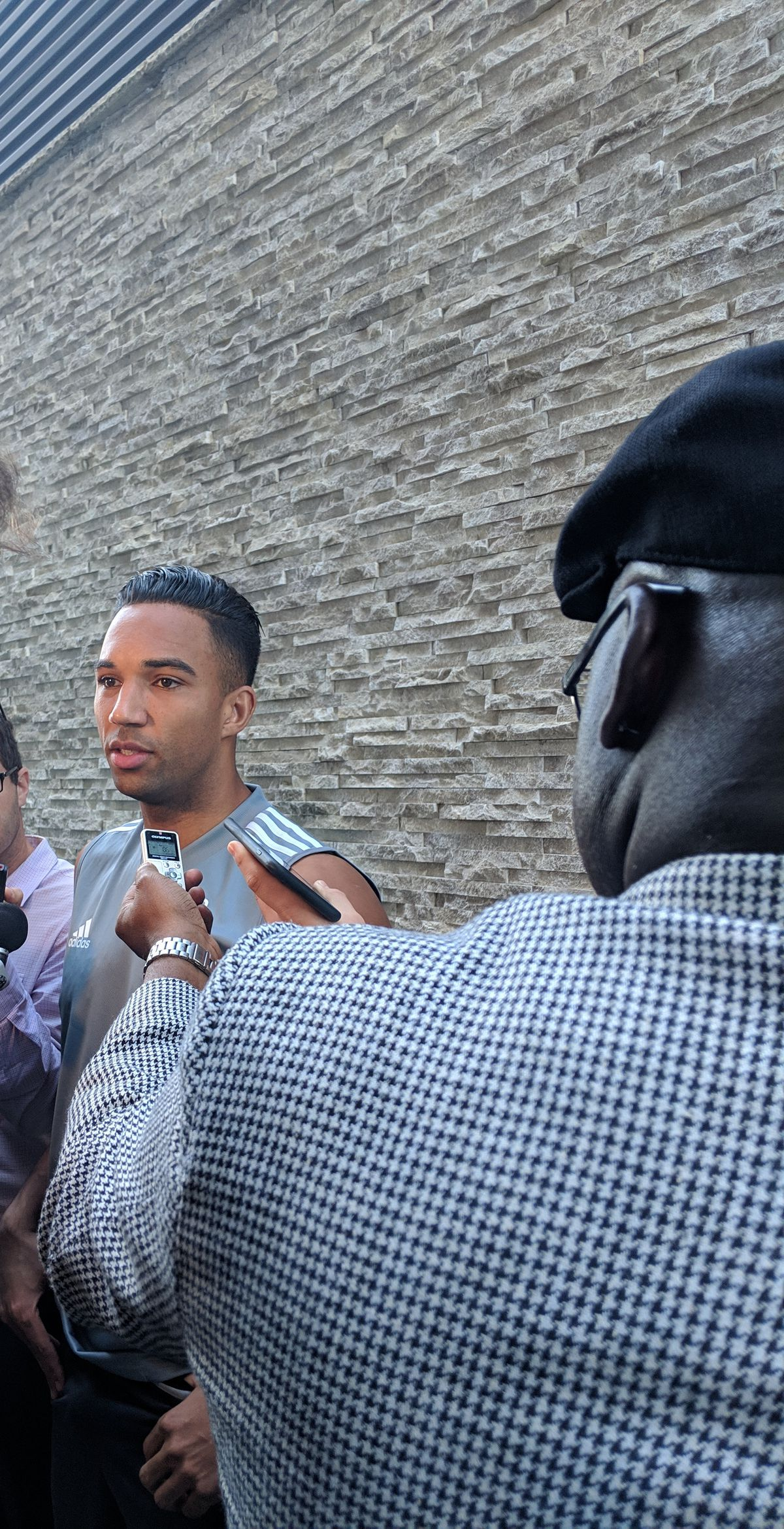 Danny Hoesen taking questions
