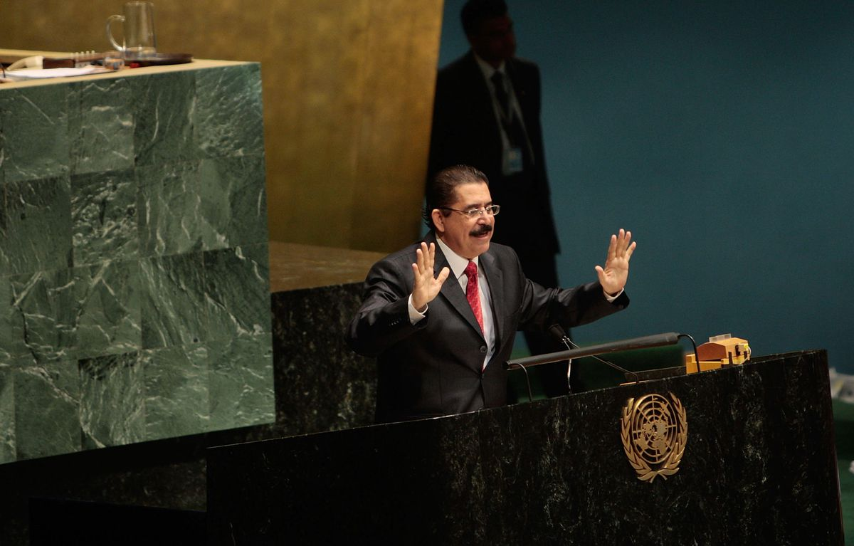 Ousted Honduran President Manuel Zelaya Addresses The UN General Assembly