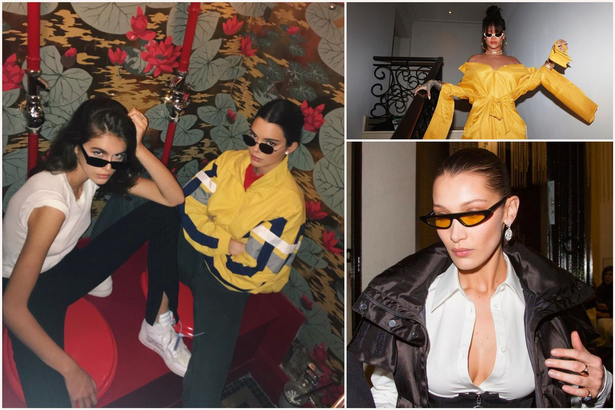 17de4ece1a Tiny sunglasses  the backlash to the trend Bella Hadid loves ...