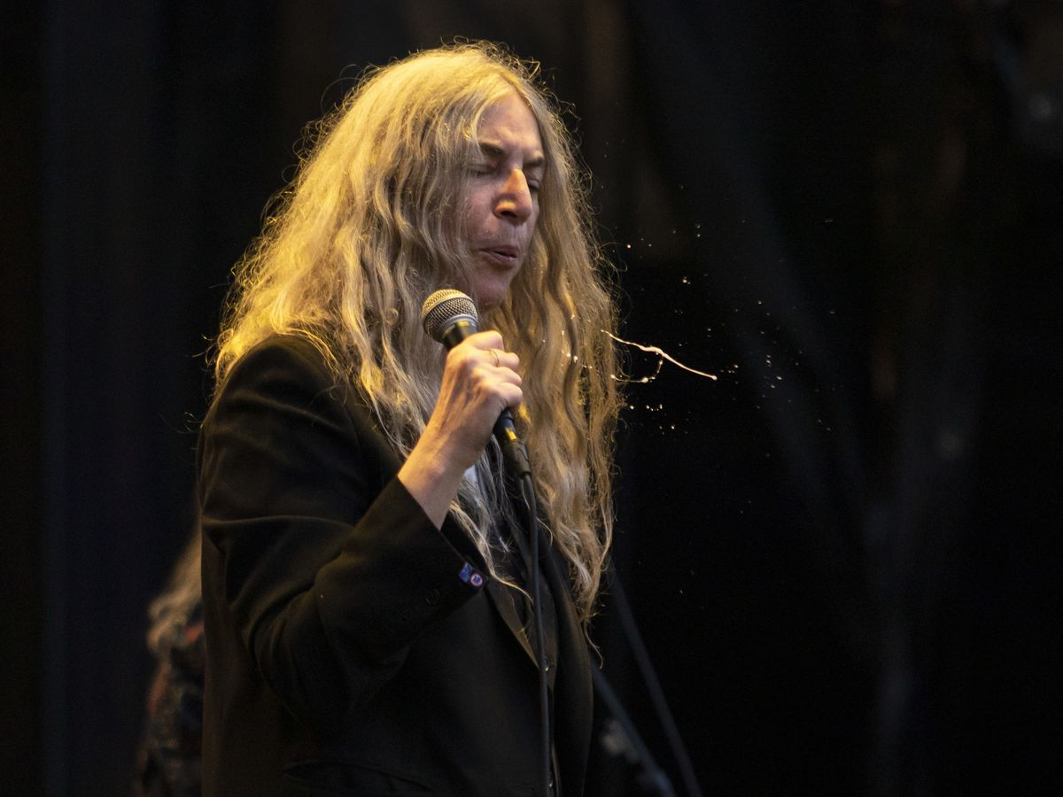 Patti Smith and Her Band perform on day three of Riot Fest in Douglas Park, Sunday evening, Sept. 15, 2019.