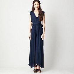 "Alasdair Long V-Neck Dress, $399 at <a href=""http://www.stevenalan.com/LONG-V-NECK-DRESS/VENSP13_NA_SP13-WDF,default,pd.html?dwvar_VENSP13__NA__SP13-WDF_color=NAVY#cgid=womens-clothing-dresses&start=12&sz=12&frmt=ajax&view=all&frmt=ajax&start=0&hitcount=6"