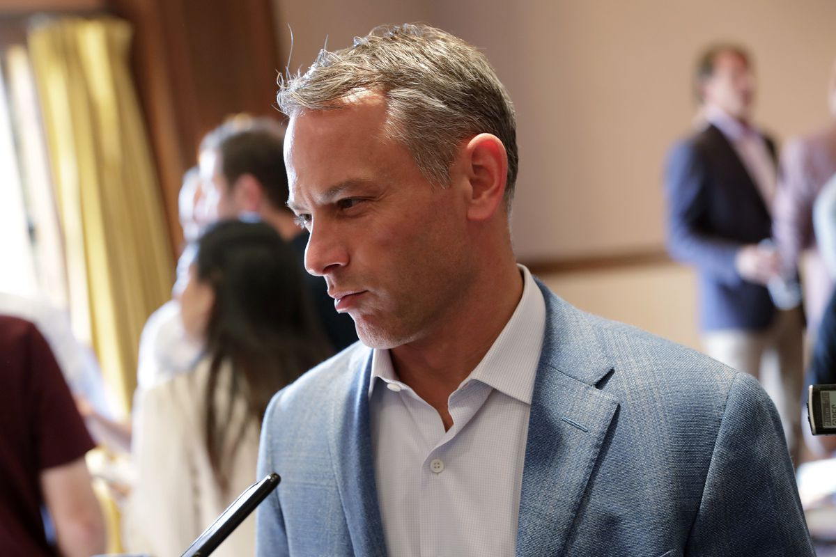"""Cubs president of baseball operations Jed Hoyer said his hope was """"waning"""" that the Cubs would reach the 85% vaccination threshold that would ease coronavirus restrictions by MLB."""