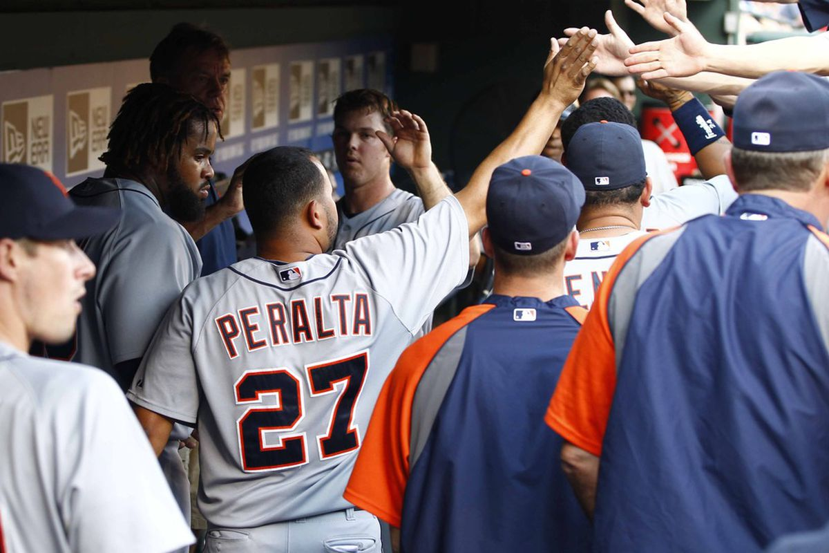 Jhonny Peralta helped the Tigers to an 8-2 win.