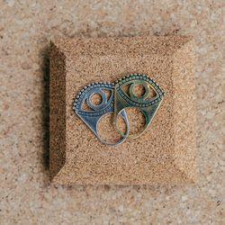 Krysos + Chandi Eye Rings, $145 to $180