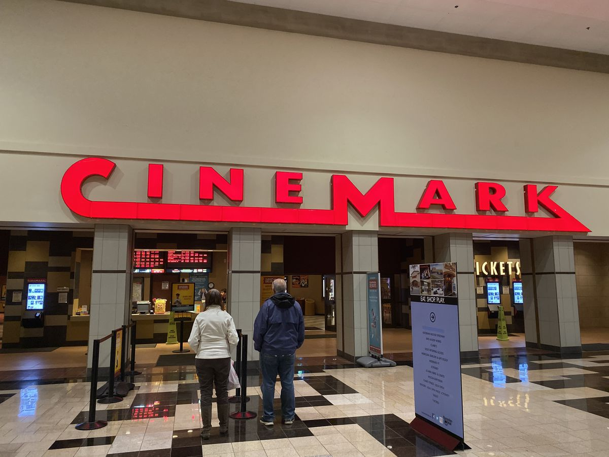 A photo of the Cinemark movie theater in Hadley, Mass., where I spent almost every weekend of my high school life.
