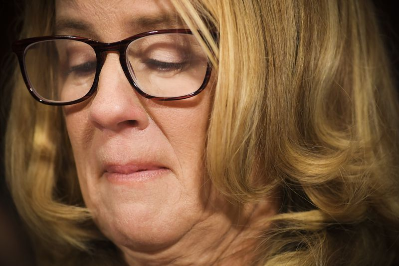 Christine Blasey Ford during her testimony before the Senate Judiciary Committee.