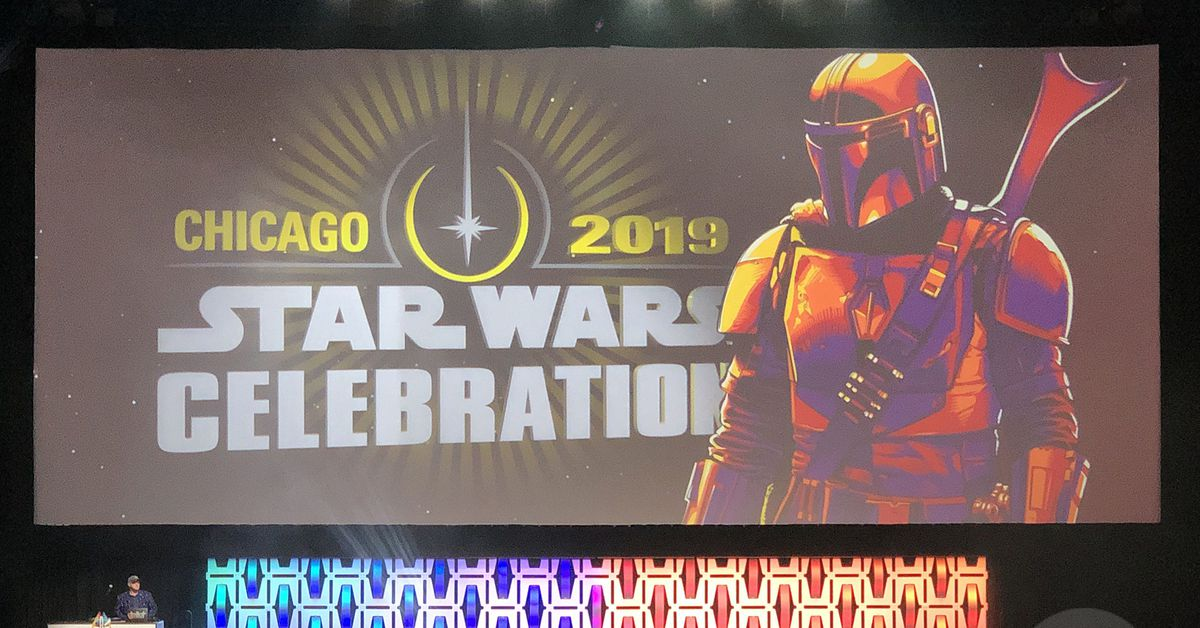 The first teaser for The Mandalorian shown at Star Wars Celebration