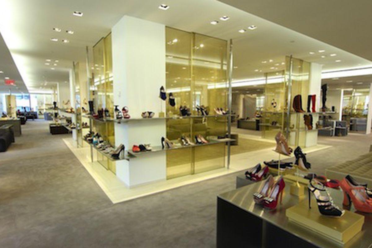 "Image via <a href=""http://www.wwd.com/retail-news/department-stores/barneys-new-designer-shoe-floor-bigger-better-6079591/slideshow/6080057#/slideshow/article/6079591/6080057"">WWD</a>"