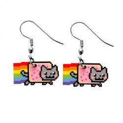 "<a href=""http://www.shanalogic.com/back-in-stock-1/nyan-cat-earrings.html"" rel=""nofollow"">Nyan Cat earrings</a>: actual Pop Tarts not included."