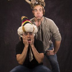 """Marco Antonio Vega, left, stars as Marco and Riley Shanahan as Riley in the Utah Shakespeare Festival's 2017 production of """"William Shakespeare's Long Lost First Play (abridged)."""""""