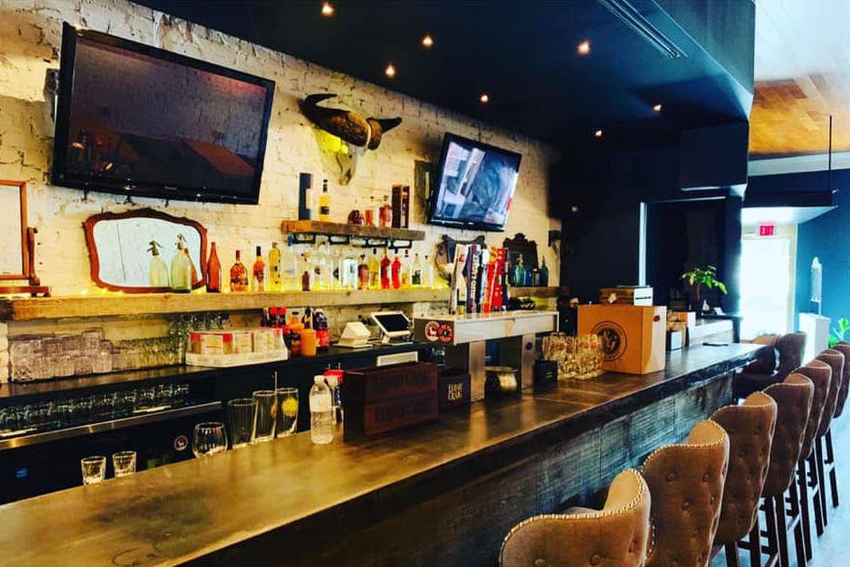 The bar at Mr. Braxton
