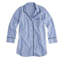 "<b>J.Crew</b> Nightshirt in End-On-End Cotton, <a href=""https://www.jcrew.com/womens_category/sleepwear/topsandshirtdresses/PRDOVR~33271/33271.jsp"">$68</a>"