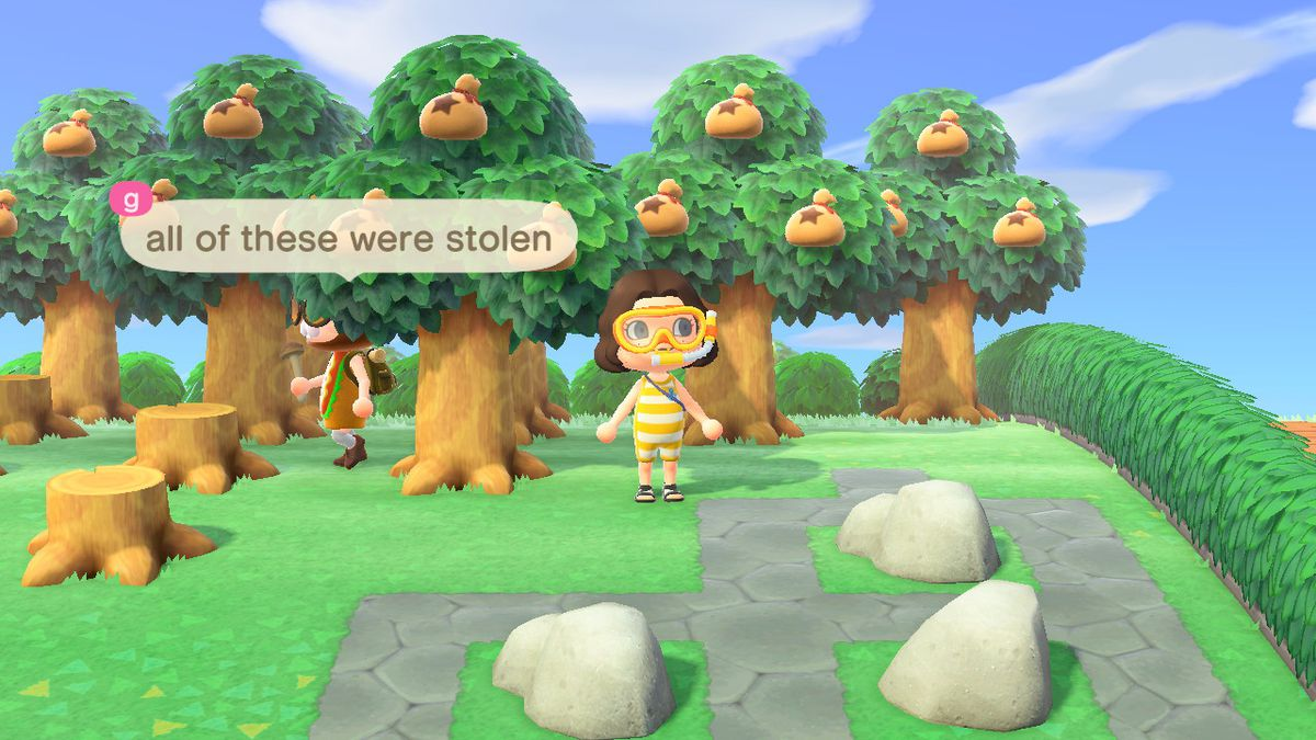 G telling me about how all the money trees were stolen