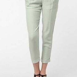 """<a href=""""http://www.urbanoutfitters.com/urban/catalog/productdetail.jsp?id=23972151""""><b>Urban Outfitters</b> Lucca Couture Drapey Pleated Trouser </a>, $39.99 (was $59)"""