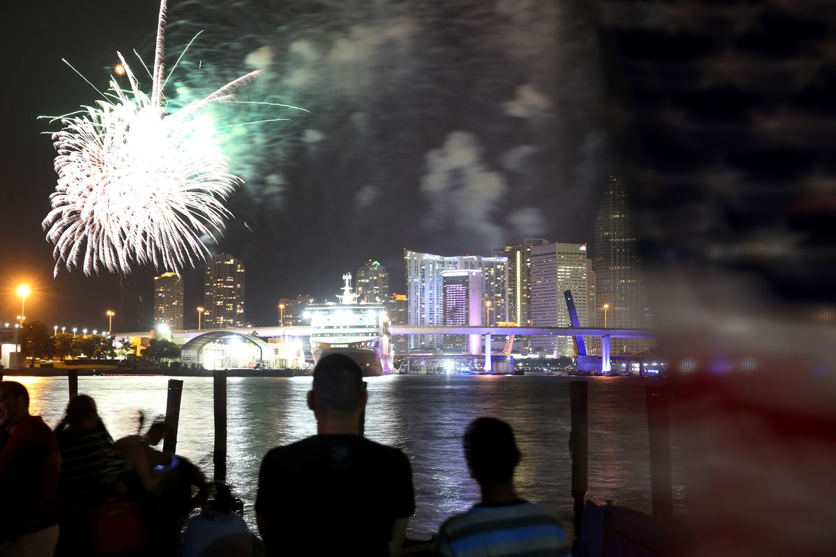 Miami Celebrates The Fourth Of July With Fireworks