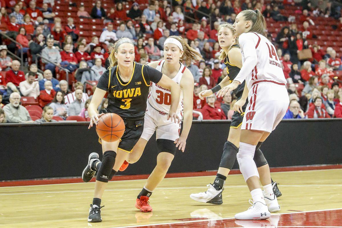 COLLEGE BASKETBALL: JAN 19 Women's Iowa at Wisconsin