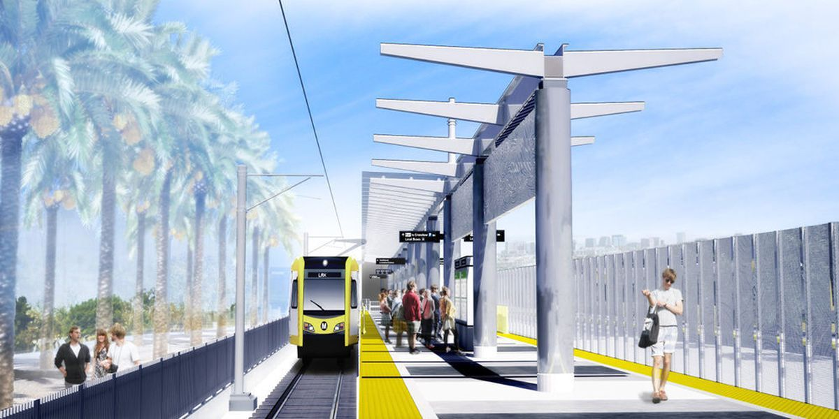 Rendering of train station
