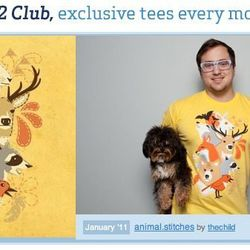 Threadless t-shirt of the month club (January)