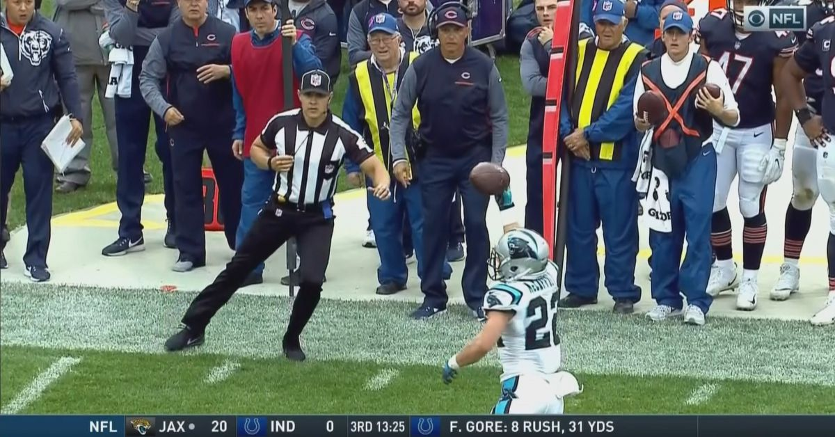 This Christian McCaffrey one-handed catch is mind-boggling