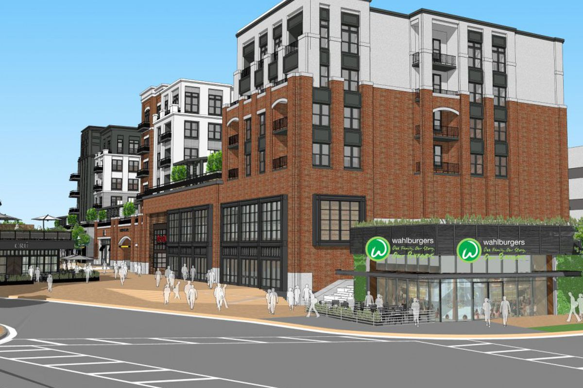 A rendering of The Battery's Wahlburgers outpost.