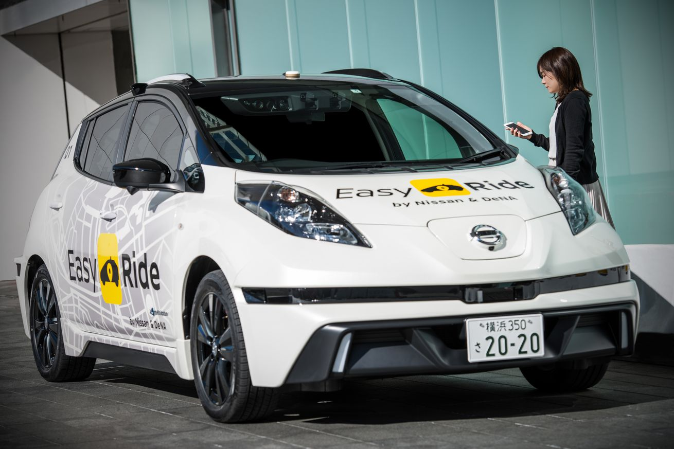 nissan plans to launch its own self driving taxi service in japan