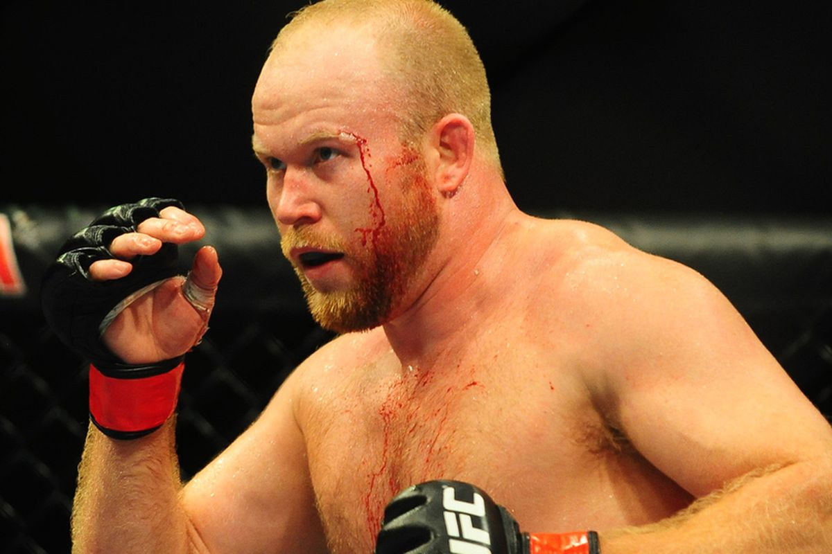 Aug. 7, 2010; Oakland, CA, USA; UFC fighter Tim Boetsch during the light heavyweight bout in UFC 117 at the Oracle Arena. Mandatory Credit: Mark J. Rebilas-US PRESSWIRE