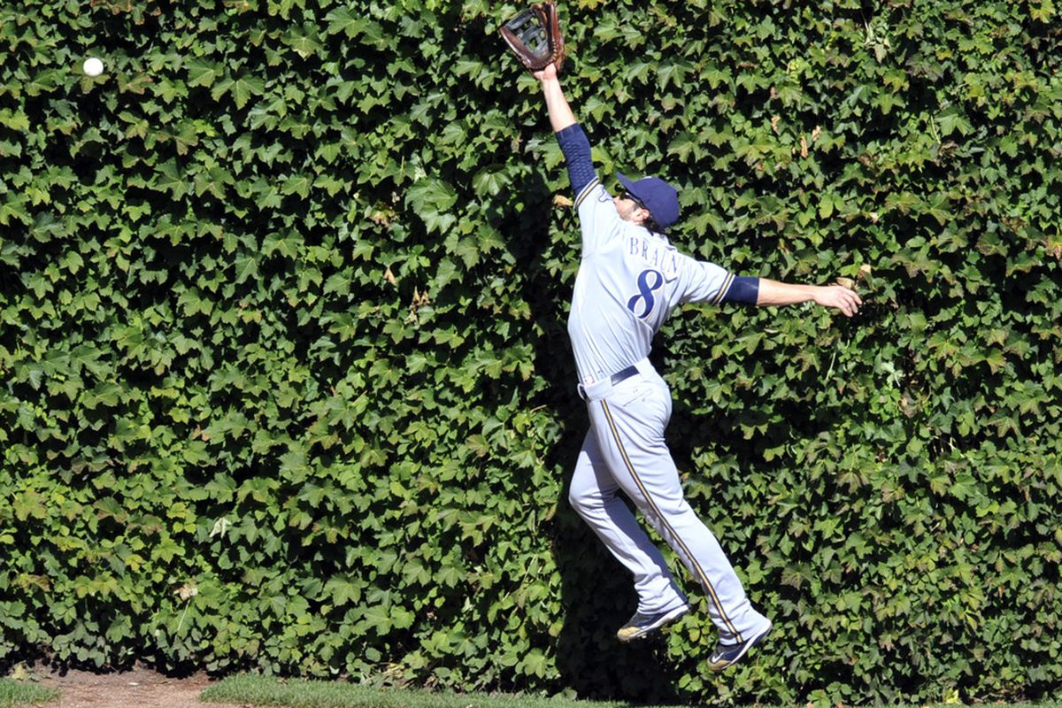 I love Ryan Braun as much or more than the next guy, but if writers award him an NL Gold Glove they should be forced to watch this play on a continual loop.