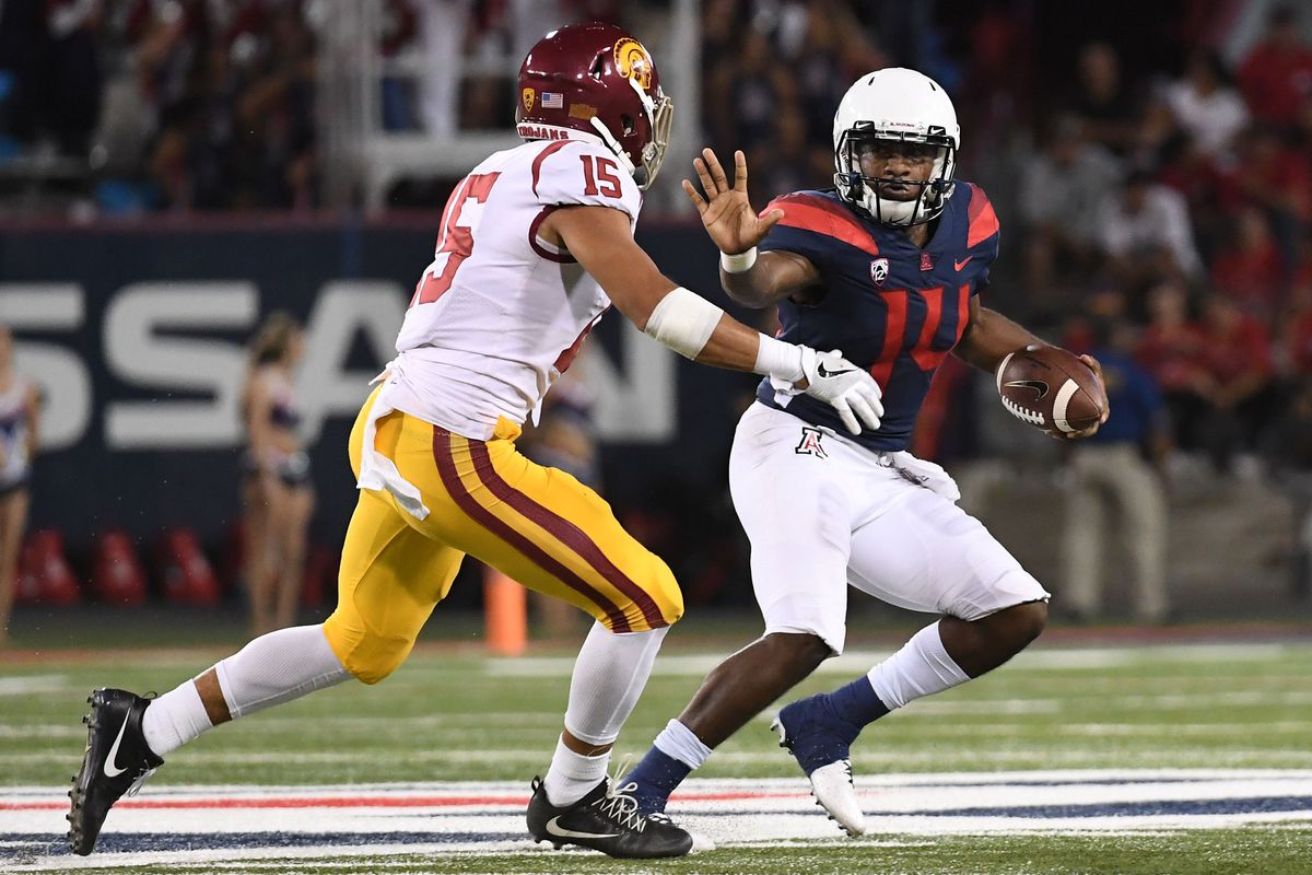 Uofa Football Score >> Arizona Vs Usc Score Predictions Arizona Desert Swarm