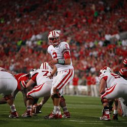 Stave gives instructions to his running back.